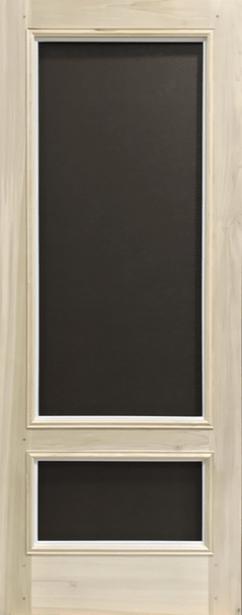 "Quick Ship - Premium Series Wood Screen Doors - The Classic 3/4 View - 32"" x 81"" Poplar"