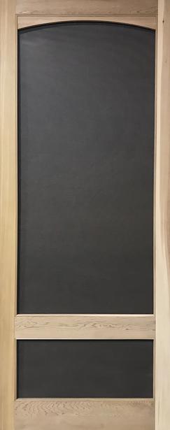 """Quick Ship - Standard Series Wood Screen Doors - Arch 3/4 View - 32"""" x 81"""" Cedar"""