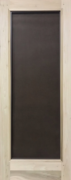 "Quick Ship - Premium Series Wood Screen Doors - Full View - 36"" x 81"" Oak"