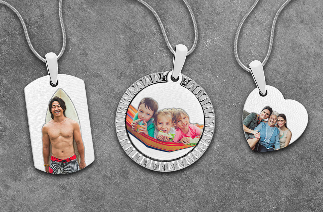 Added Color Photo Engraved Jewelry