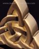 Remembrance Pendant Gold Plated Celtic Triangle Keepsake