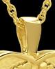 Cremation Pendant 14k Gold In My Heart Keepsake