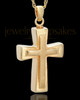 Urn Jewelry 14k Gold Two Cross Keepsake