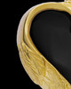 Remembrance Pendant Gold Plated Onyx Winged Heart Keepsake