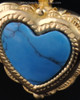 Cremation Heart Gold Plated Turquoise Pendant