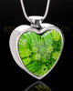 Stainless Steel Jade Meadows Heart Keepsake Jewelry