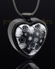 Black Plated Stainless Heavens Destiny Heart Keepsake Jewelry