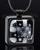 Black Plated Stainless Ebony Magic Keepsake Pendant