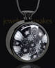 Black Plated Stainless Time Of Healing Round Keepsake Pendant