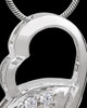 Spiraling Sensations Silver Plated Cremation Urn Pendant