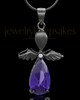 Black Plated Angelic Symphony Cremation Urn Pendant