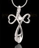 Sterling Silver Forever in My Heart Cremation Urn Pendant