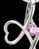 Sterling Silver Pink Forever in My Heart Cremation Urn Pendant