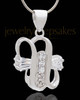Silver Plated Expressions Cremation Urn Pendant