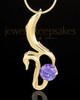 Gold Plated Awakening Cremation Urn Pendant