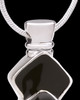 Silver Plated Black Cleverness Cremation Urn Pendant