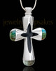 Stainless Steel Adorn Cross Cremation Urn Pendant