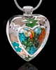 Silver Plated Pleasant Heart Cremation Urn Pendant