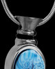Black Plated with Blue Fly Away Butterfly Urn Charm