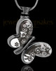 Black Plated Butterfly Fly Away Jewelry Urn