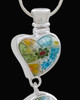 Silver Plated Hanging Hearts Cremation Urn Pendant