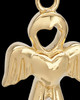 Gold Plated Heavenly Attendant Cremation Urn Pendant