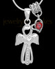 Sterling Silver January Heavenly Attendant Cremation Urn Pendant