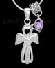 Sterling Silver June Heavenly Attendant Cremation Urn Pendant