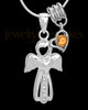 Sterling Silver November Heavenly Attendant Cremation Urn Pendant