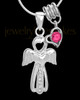 Sterling Silver October Heavenly Attendant Cremation Urn Pendant