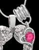 October Winged Memories' Sterling Silver Heart Cremation Pendant