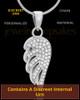 Sterling Silver Soaring Spirit Cremation Urn Pendant