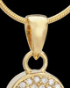 Gold Plated Soaring Spirit Cremation Urn Pendant