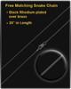 Black Plated Devout Cross Cremation Urn Pendant