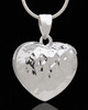 Silver Plated Gazing Heart Cremation Urn Pendant