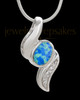 Silver Plated Trickle Cremation Urn Pendant