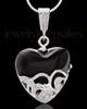 Sterling Silver Bundled Heart Cremation Urn Pendant