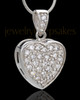 Silver Plated Precious Heart Cremation Urn Pendant