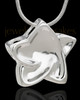 Silver Plated Nirvana Star Cremation Urn Pendant