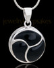 Silver Plated Daydreams Round Cremation Urn Pendant