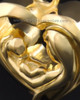 Bond of Love Gold Plated Heart Keepsake