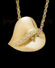 Gold Plated Abiding Heart Cremation Keepsake