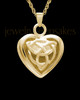 Warm and Tender Gold Plated Heart Keepsake