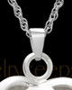 14k White Gold Warm and Tender Heart Cremation Pendant