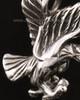 14k White Gold Soaring Eagle Urn Pendant
