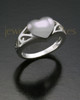 Ladies Silver Filigree Heart Cremation Ring