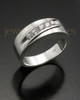 Men's Silver Fondness Cremation Ring