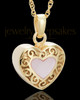 Gold Plated Blushing Heart Urn Keepsake