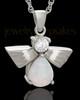 Sterling Silver Opal Lovely Messenger Urn Keepsake