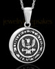Stainless Military Medallion-Navy Urn Pendant